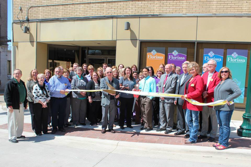 Illinois Rural Health Network leaders gather at the April 2015 ribbon-cutting ceremony for their new Florissa facility in Dixon, IL.