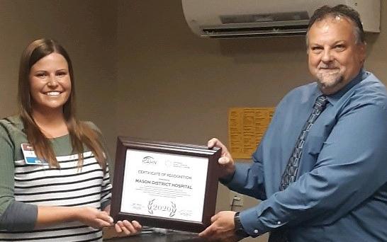 Mason District Hospital Receives CAH Recognition Award