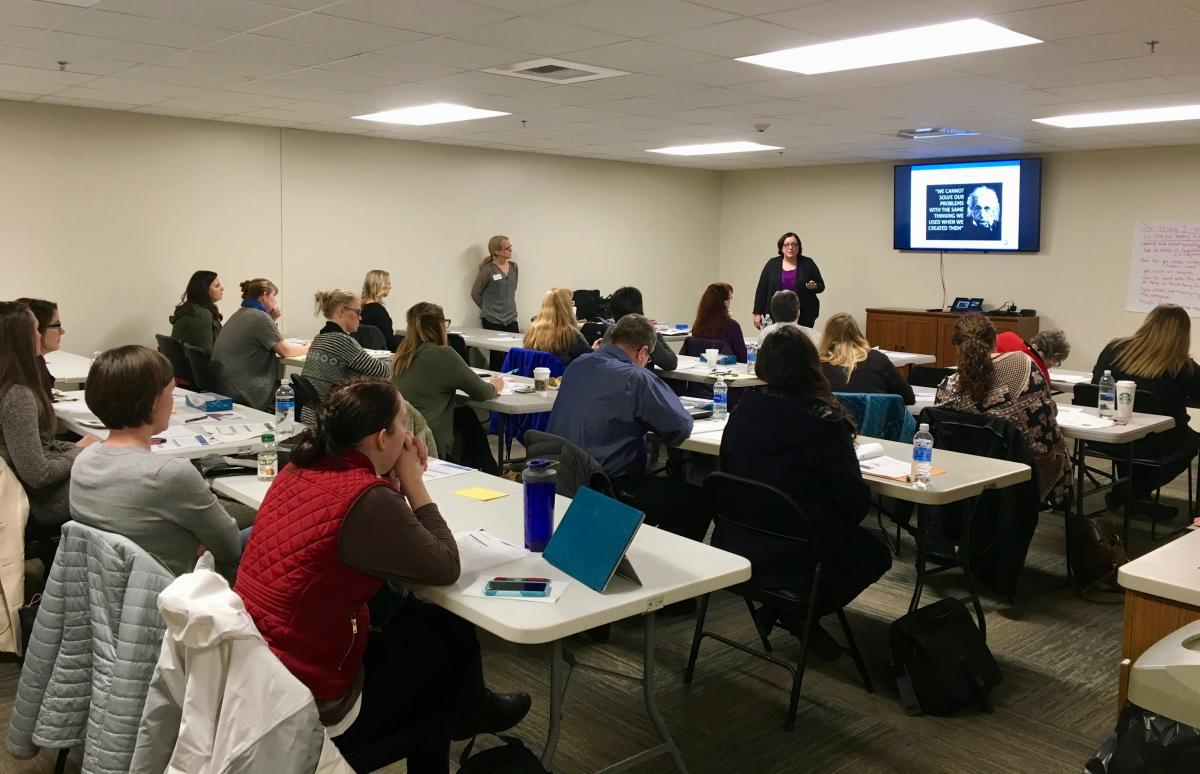 Care coordinators participate in a recent class held by the Northwest Rural Health Network.