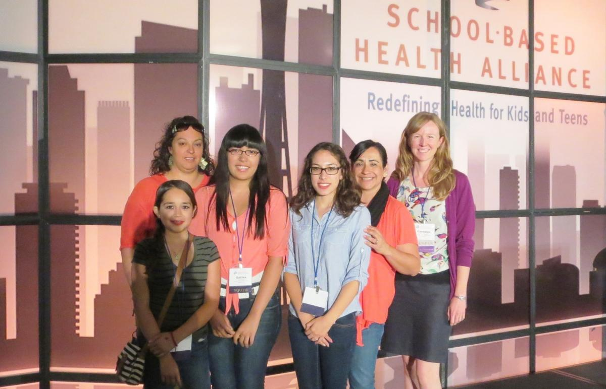 Staff members and program participants of the Santa Cruz County Adolescent Wellness Network attending the 2014 School-Based Health Alliance conference in Seattle.