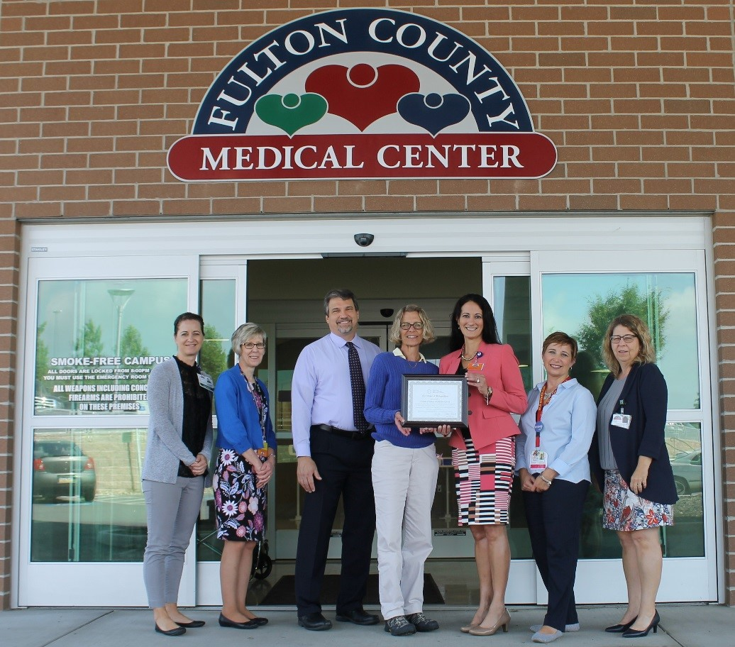 Nicole Earley, SCM Trainer; Kim Slee, COO; Mike Makosky, CEO; Elizabeth Gotwals, Fulton Behavioral Health; Lanette Johnston, MS, BSN, RN, CHC, Pennsylvania Office of Rural Health; Becky Greenawalt, SCM Trainer; Deborah Shughart, CFO.