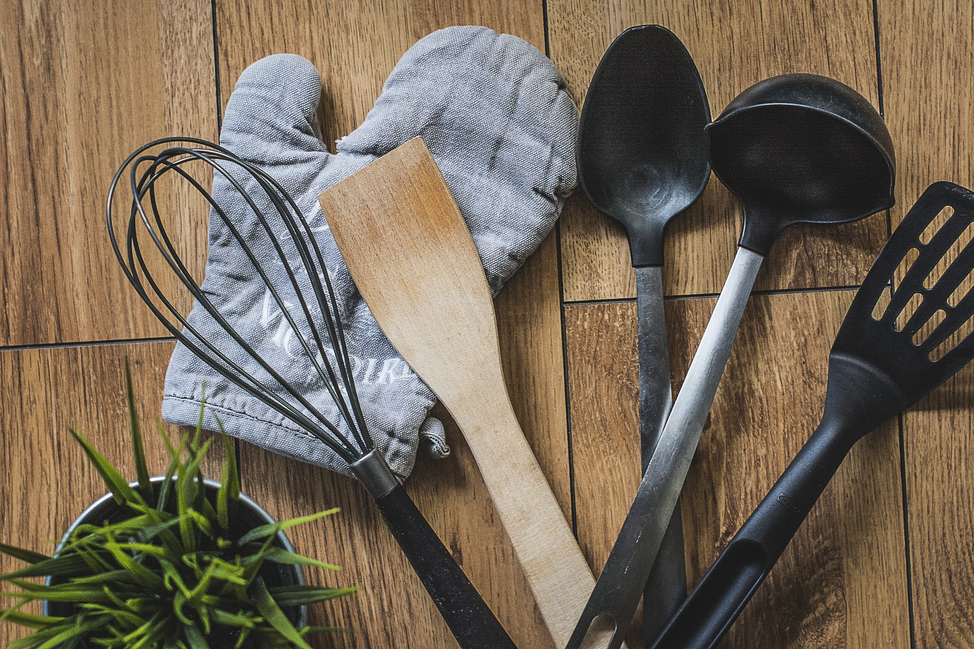 Image of various cooking utensils on a countertop