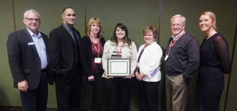 McKenzie Health System executives receive CAH Recognition certificate from Michigan Flex Program staff