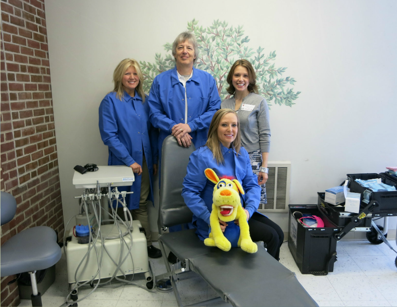 The North Country Health Consortium's mobile dental clinic, the Molar Express, uses state-of-the-art portable dental equipment to set up a professional and safe dental clinic in schools, nursing homes, and other community locations.