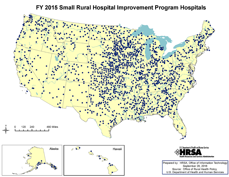 Map of Hospitals Participating in SHIP for Fiscal Year 2015
